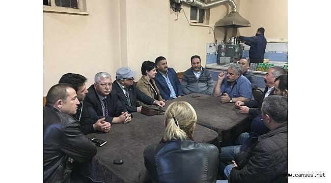 Chp Partisi Adapazarı ilçe Başkanlığı Karaköy ve Taşlık Mh. Ziyaretleri