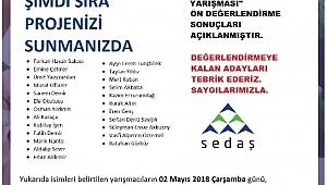 SEDAŞ'ın Proje Fikri Yarışmasında Finalist Adaylar Belli Oldu