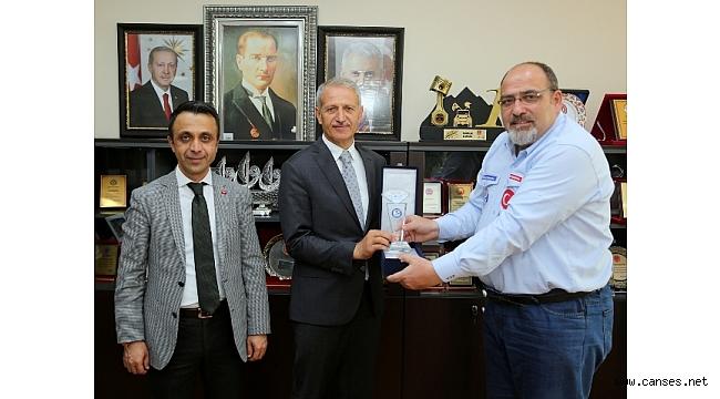 Yüzme Federasyonu'ndan Başkan Dişli'ye ziyaret