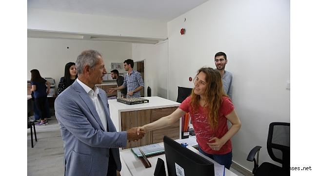 Başkan Dişli, personelle bayramlaştı