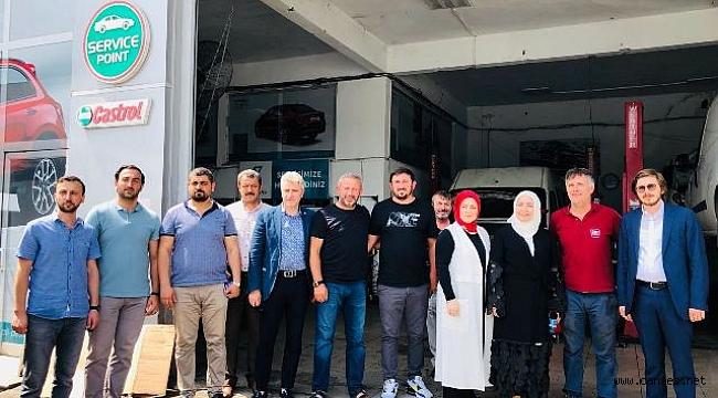 Çiğdem Erdoğan Atabek Erenlerde Sanayi Esnafını Ziyaret Etti