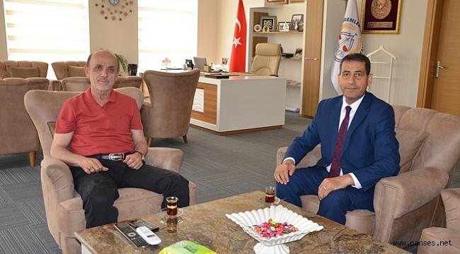 Erenlerin Yeni İlçe Sağlık Müdürü Ömer Balcı Başkan Öztürk'ü Ziyaret Etti