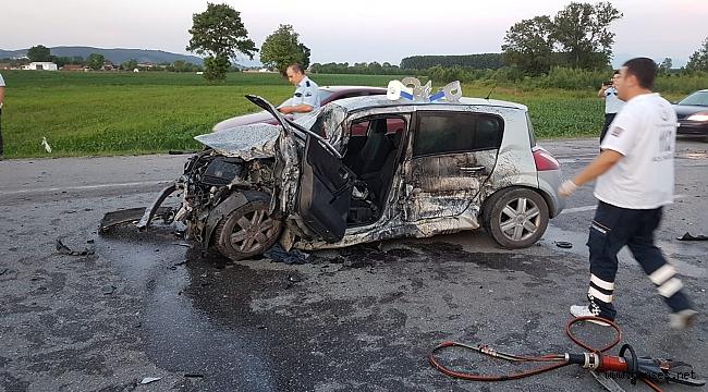 Karaman Camili yolunda kaza