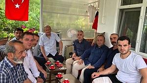 AK Partililer'den gaziye 'geçmiş olsun' ziyareti