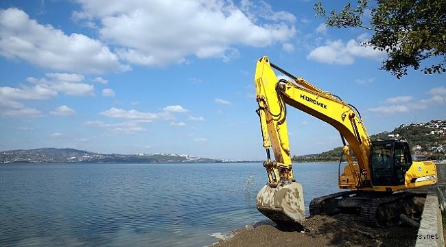 Dereler ıslah ediliyor göl korunuyor