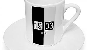 Kişiye Özel Siyah Beyaz Tasarımlı Türk Kahvesi Fincanı