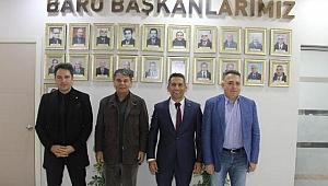 ENGİN YILDIRIM İLE MEHMET SERTAÇ KESLER'DEN BARO BAŞKANI BURAK'A ZİYARET