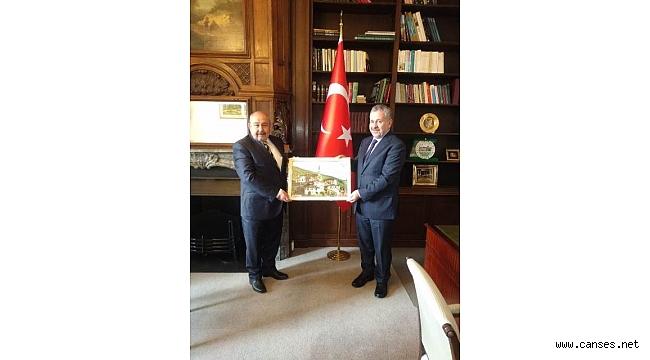 Naim Nalbant Büyükelçi Şaban Dişli'yi Ziyaret Etti.