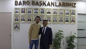 TUNCAY ŞANLI'DAN BARO BAŞKANI AV. ABDURRAHİM BURAK'A ZİYARET