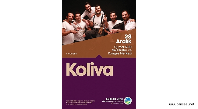 2018 etkinlikleri Koliva konseriyle sonlanacak