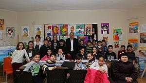 Başkan Dişli Bilgievinde çocuklarla vakit geçirdi
