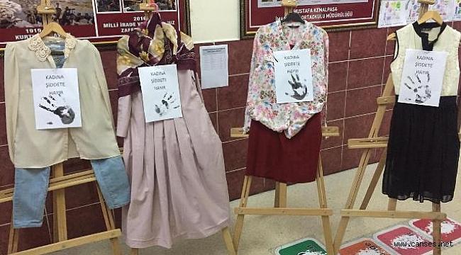 Öğretmenlerden 'Kadına Şiddete Hayır' etkinliği