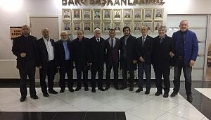 SAADET PARTİSİNDEN BARO BAŞKANI AV. ABDURRAHİM BURAK'A ZİYARET