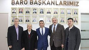 SAKARYA KÜLTÜR VE EĞİTİM VAKFI'NDAN BARO BAŞKANI AV. ABDURRAHİM BURAK'A ZİYARET