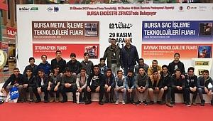 Ümit Erdal Mesleki ve Teknik Anadolu Lisesi Bursa Metal İşleme Teknolojileri Fuarını gezdi