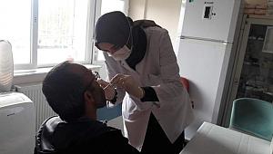 Yaşlılar ve engellilere diş taraması yapıldı