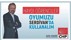 ZAFER KAZAN'DAN ÜNİVERSİTE ÖĞRENCİLERİNE ÇAĞRI