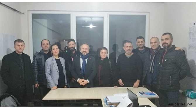 EMEKLİLİKTE YAŞA TAKILANLARDAN ZAFER KAZAN'A ZİYARET