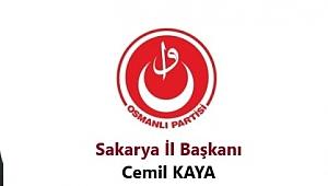 Osmanlı Partisi Sakarya İl Başkanı KAYA Gazeteciler Günü dolayısıyla bir mesaj yayımladı