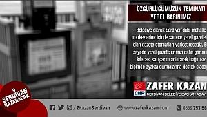 ZAFER KAZAN'DAN 10 OCAK'TA YEREL BASINA 2 PROJE