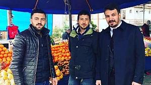 Cumhur İttifakı'nın MHP Taraklı Belediye Başkan Adayı Pilavcı Pazar Yerini Gezdi