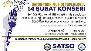 SATSO Türk Müziği Topluluğu' ndan 14 Şubat Özel Konseri