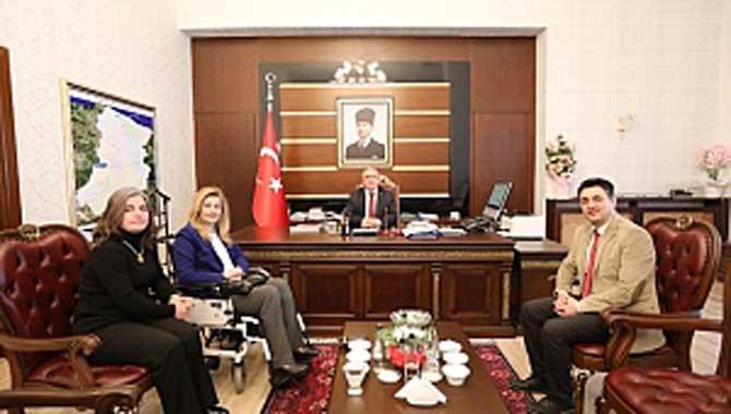 BAKAN DANIŞMANI KARABURUN'DAN VALİ NAYİR'E ZİYARET