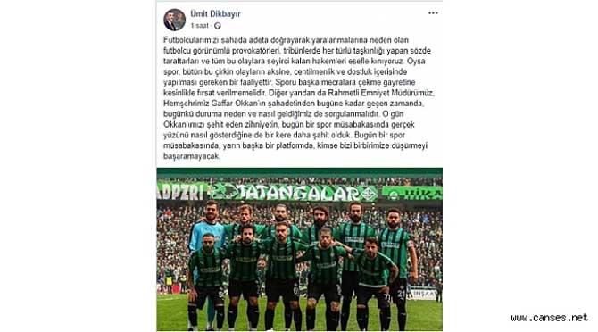 Dikbayır'da Sakaryaspor Mesajı