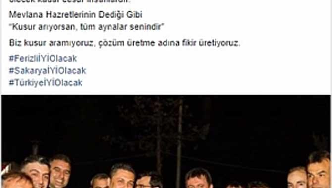Ferizli Belediye Başkan Adayı Çiçek'ten Çok Konuşulan Paylaşım