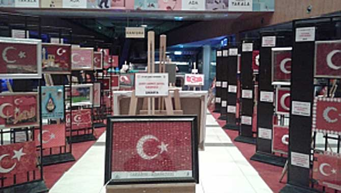 """""""81 İlde Şanlı Bayrağım"""" Sergisi Açıldı."""