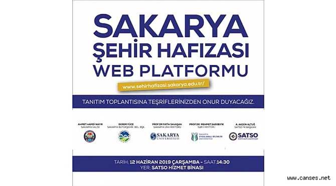 SAKARYA ŞEHİR HAFIZASI WEB SİTESİ SATSO'DA TANITILACAK