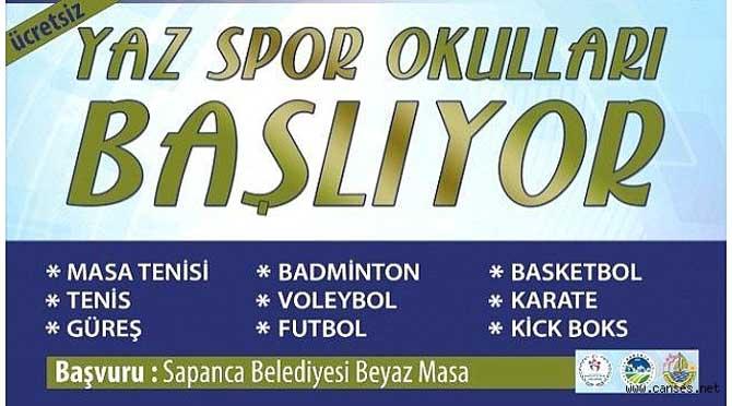 Sapanca Belediyesi Yaz Spor Okulları Başlıyor