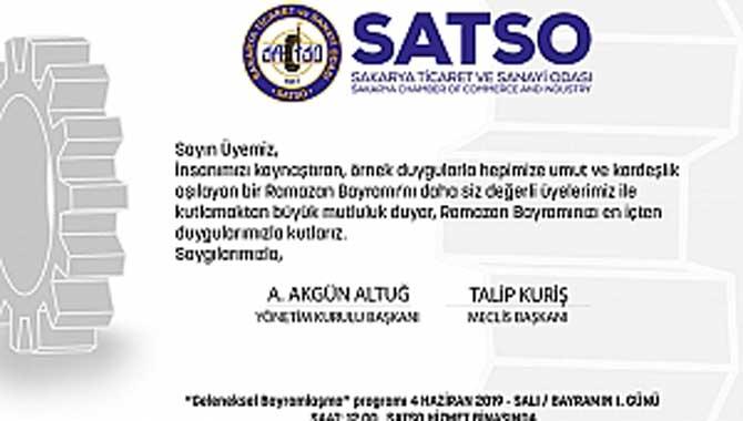 SATSO Bayramlaşma töreni ilk gün 12.00'de