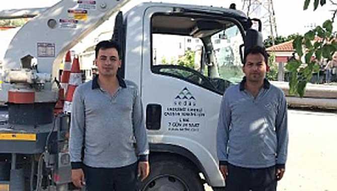 SEDAŞ çalışanlarının yangın anındaki çalışmaları takdirle karşılandı