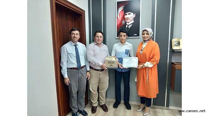 LGS 1.si Öğrenciye MEB Din Öğretiminden Teşekkür Belgesi