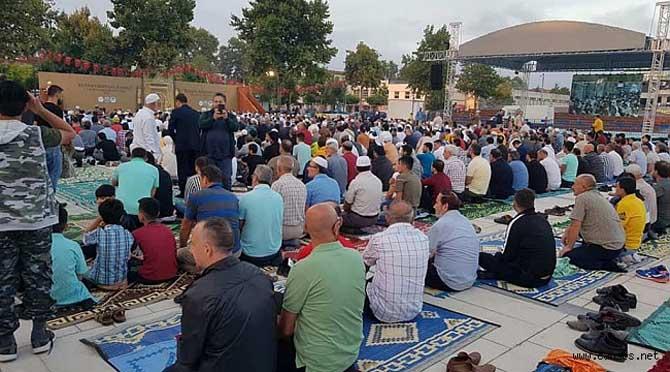 Sakarya'da Kurban Bayramı Namazı