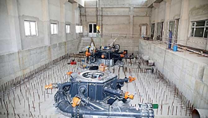 Hacımercan HES'te Türbinlerin Montajı Başladı
