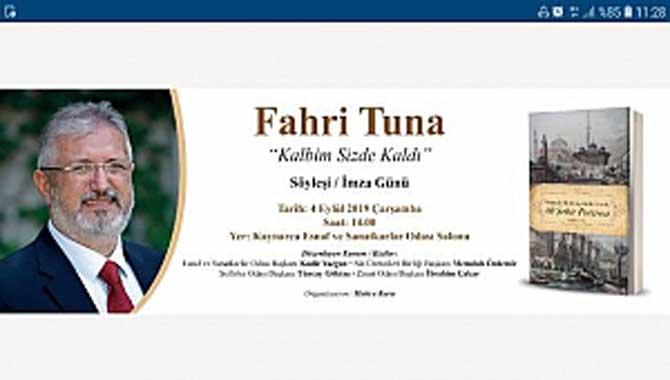 Kaynarcalı odalardan hemşeri yazara vefa; Fahri Tuna'ya söyleşi imza günü