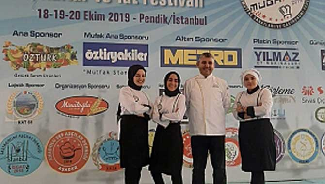 Akyazı Nilüfer Hatun MTAL Aşçılık Öğrencileri Festivalden Madalyalarla Döndü