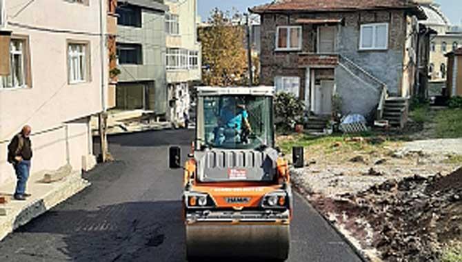 """""""Karasu Belediyesinin Asfalt Hamlesi Hız Kesmeden Devam Ediyor"""""""