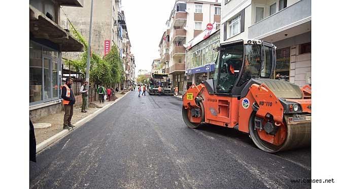"""""""Karasu,Kabakoz Mahallesinde Asfalt Çalışmaları Tamamlandı"""""""