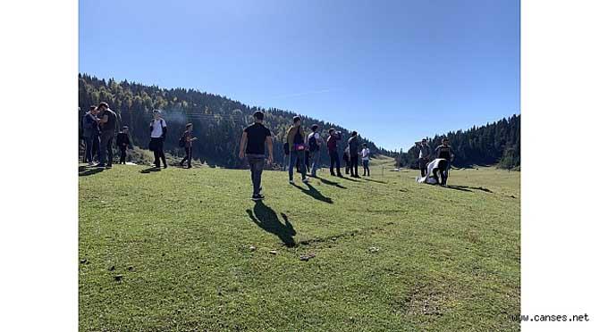 Sakarya'da Gençler Doğa Yürüyüşü Yaptı