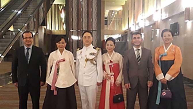 Taraklı'lı Muhsin Öztürk Güney Kore Milli ve Silahlı Kuvvetler Kutlama Resepsiyonuna katıldı
