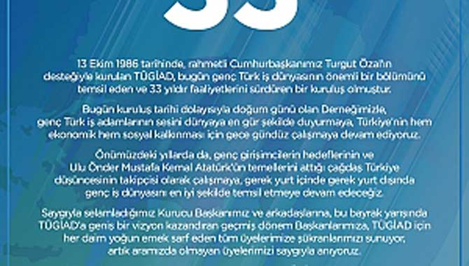 TÜGİAD 33 YAŞINDA