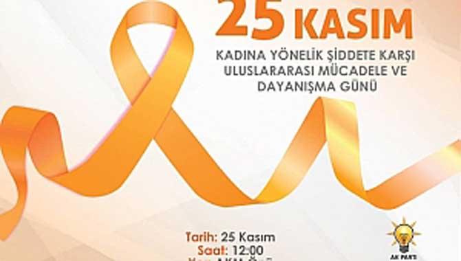25 Kasım Kadına Şiddet Uluslararası Mücadele ve Dayanışma Günü Yürüyüşü