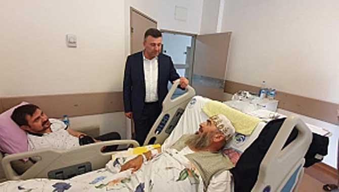Başkan Özen, Hasta Ziyaretini Aksatmıyor