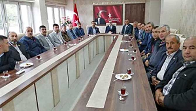 Muhtarlar'dan Kaymakam Abdullah Arslantürk'e Ziyaret