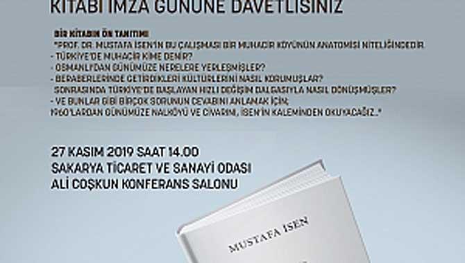 Prof. Dr Mustafa İsen '' NALKÖY'' kitabı imza günü SATSO'da..