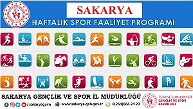SAKARYA HAFTALIK SPOR FAALİYET PROGRAM