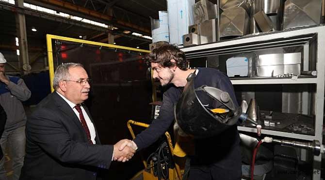 Vali Nayir Fabrika Ziyaretlerine Devam Ediyor